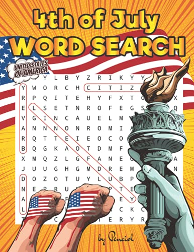 4th of July Word Search for Adults: Independence Day Themed Word Search Puzzle Book for Adults