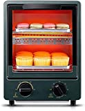 LYXY Cocina Mini tostadora Horno 12L Mini Horno 0-230 ℃ Temperatura Ajustable y Temporizador de 60 Minutos Hornos eléctricos de Dos Capas 900W