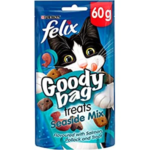 Felix Goody Bag Cat Treats Seaside Mix 60g (Pack of 8)