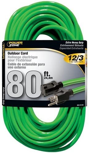 Finally resale start Max 86% OFF Cord Extension Outdoor 12 Neon 3x80ft Green