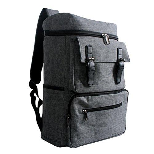 ZKOO Imperméable Sac d école Sac a dos en Toile Plein air Voyage Sac à dos BackPack Portable Cartable Sac à dos Gris