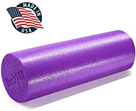 Yes4All Premium Medium Density Round PE Foam Roller for Physical Therapy - 18inch (Purple)