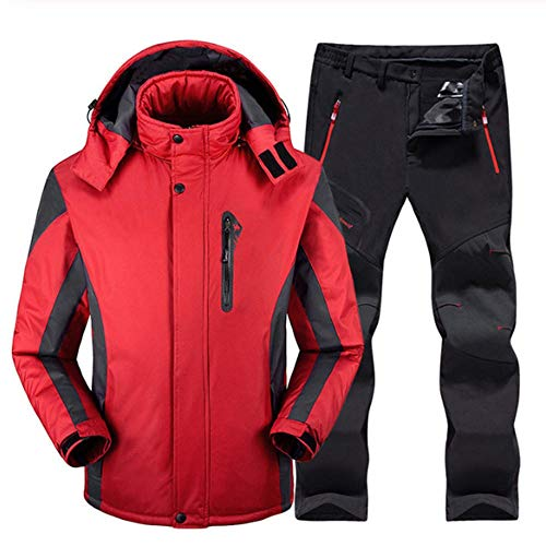 Ski-pak Heren Skiën En Snowboarden Sets Super Warm Waterdicht Winddicht Snowboard Fleece Jacket+Broek Winter Sneeuwpakken
