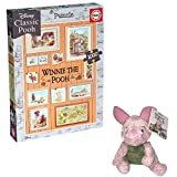 Price Toys Winnie the Pooh Jigsaw Puzzle | 1000 Piece Photoframe Puzzle and Soft Toy| (Piglet)
