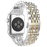 Aottom Compatible con Correa Apple Watch SE 6 5 4 3 2 1, Correa 38mm Correa 40mm, Acero Inoxidable Correas del Reloj Pulsera de Repuesto para Hombre Mujer Correa para Apple Watch Series SE/6/5/4/3/2/1