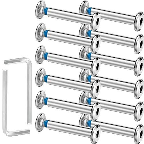 HOTOP 20 Sätze Skate Rad Innensechskant Schraube Inline Rollschuh Schrauben Welle Sechskant Innensechskant Schraube mit 2 Stücken Installation Werkzeug