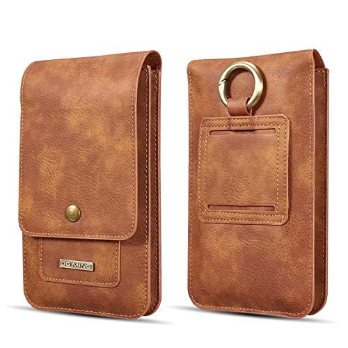 JDDRCASE Smartphone Universal Bolsa for cinturón Funda de Piel de Negocios for el iPhone X/XS Msx / 7 / 7plus / 8Plus / 6 Plus / 6S / 6S más / 5 / 5S / 5C / SE