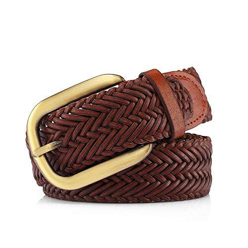 Yzibei Wild dames vintage leer gevlochten riem voor jeans shorts broek zomerjurk voor dames met legering gesp