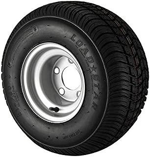 18.5X8.5-8 Loadstar Trailer Tire LRC on 5 Bolt Silver Wheel