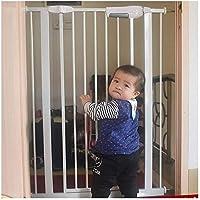 ベビーゲート フェンス ドア付き 圧力フィット安全メタルゲートは、幅が利用可能な拡張機能でペットゲートベビーゲートを204cmするために75から選択することができる100センチメートル長身 (Color : Hight100cm-width, Size : 155-164cm)
