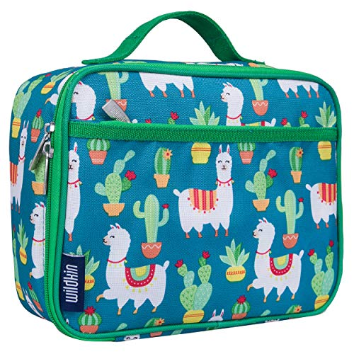Wildkin Kids Insulated Lunch Box for Boys and Girls, Perfect Size for Packing Hot or Cold Snacks for School and Travel, Mom's Choice Award Winner, BPA-free, Olive Kids (Llamas and Cactus)
