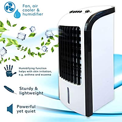 Jack Stonehouse Compact, Portable, and Quiet 3-in-1 Evaporative Air Cooler/Humidifier/Fan