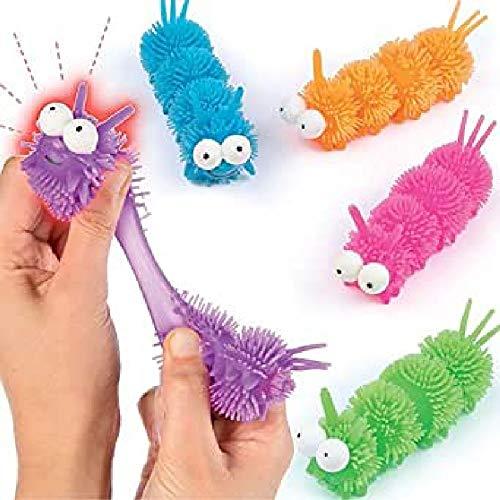 Baker Ross P432 Coole Leuchtende Raupen-Spielzeug für Kinder als Mitgebsel und Preis beim Kindergeburtstag-4 Stück, Sortiert
