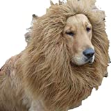 N/D Lion Wig Pet Wig Pet Dog Supplies Halloween Mane Dog Wig