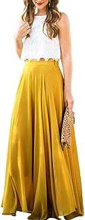 09a45cf83a564e Amazon.fr : Jupe Longue Soie - Jupes / Femme : Vêtements