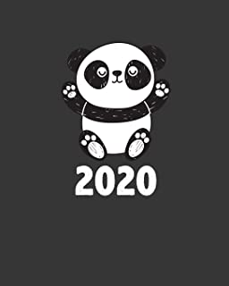 2020: Cute Panda Weekly Planner. Monthly Calendars, Daily Schedule, Important Dates, Mood Tracker, Goals and Thoughts all in One!