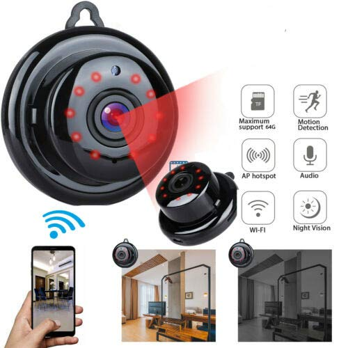 Mini Camera Spy Wireless with Audio HD 1080P Wireless Hidden Camera Home WiFi Remote Security Cameras Smart Motion Detection Remote Playback Night Vision IP Camera