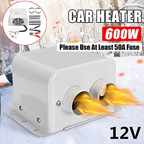 Riloer 12V 800W Universal Auto Heizung Auto Heizlüfter Auto Defroster Auto Heizlüfter Demister