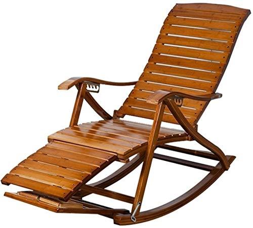 Lhak Sillón reclinable al Aire Libre La Gravedad Cero al Aire Libre Plegable Silla de jardín, Mecedora de jardín Plegable al Aire Libre balcón terraza, Porche (Color : B)