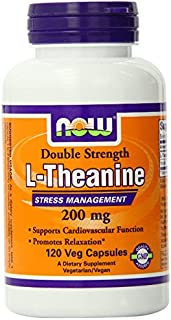 Now Foods L-Theanine Veg Capsules, 200 mg - 120 ct (Pack of 3)