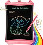 TEKFUN Tablet para niños 8.5 Pulgadas,Tableta de Escritura LCD de con Bloqueo de Pantalla borrable y función Reutilizable,Portatiles Baratos,Pizarra Luminosa niños,Juegos educativos(Pink-1)