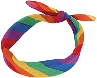 XHNMAO Rainbow Color Bandanas Headband Cute Girls Yoga Running Sports Headwear Long Elastic Hair Band Headscarf Cotton Hair Accessories (Color : Rainbow Color)