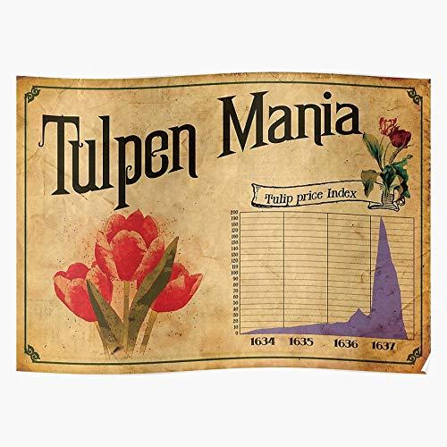 tuqpei Mania Bitcoin Tulip Cryptocurrency Wall Bubble Finance Street Crypto Home Decor Wandkunst drucken Poster !