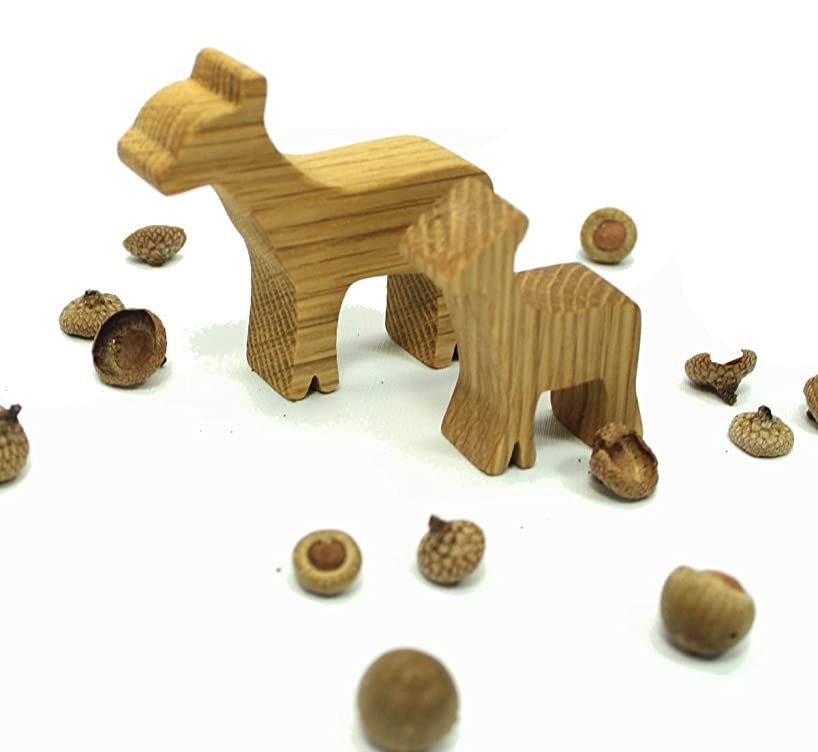 Wooden Toy Deer Family
