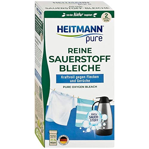 HEITMANN pure Reine Sauerstoffbleiche: Ökologisches Bleichmittel, hohe Waschkraft gegen Flecken & Schmutz, 1x 350g