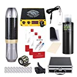 Dragonhawk Tattoo Pen Kit Rotary Tattoo Machine Carbon Fiber Frame Machine Tattoo Power