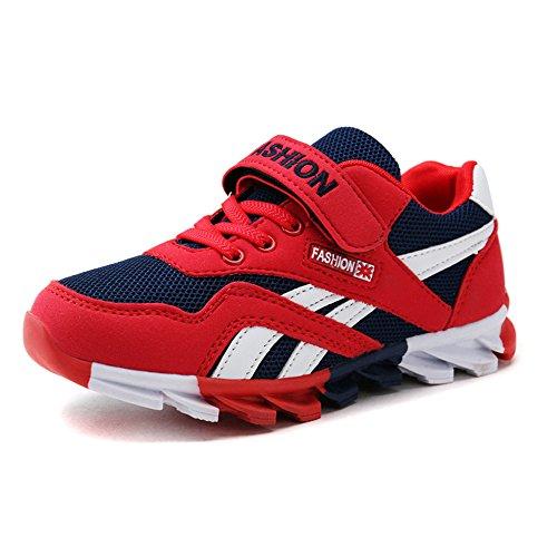 DUORO Kinder Sportschuhe Sneaker Jungen Mädchen Outdoor Atmungsaktive Turnschuhe Running Schuhe Straßenlaufschuhe (37, Rot)
