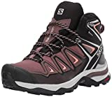 Salomon X Ultra 3 Mid GTX, Zapatos de High Rise Senderismo para Mujer, Amarillo Peppercorn Black Coral Almond 000, 39 1/3 EU