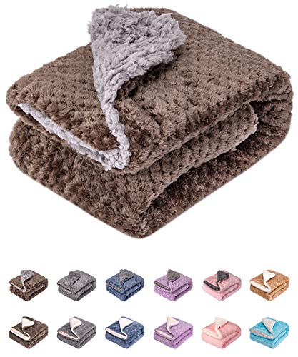 Fuzzy Dog Blanket or Cat Blanket or Pet Blanket, Warm and Soft, Plush Fleece Receiving Blankets for Dog Bed and Cat Bed , Couch, Sofa, Travel and Outdoor, Camping (Blanket (32' x 40'), DG-Lavender)