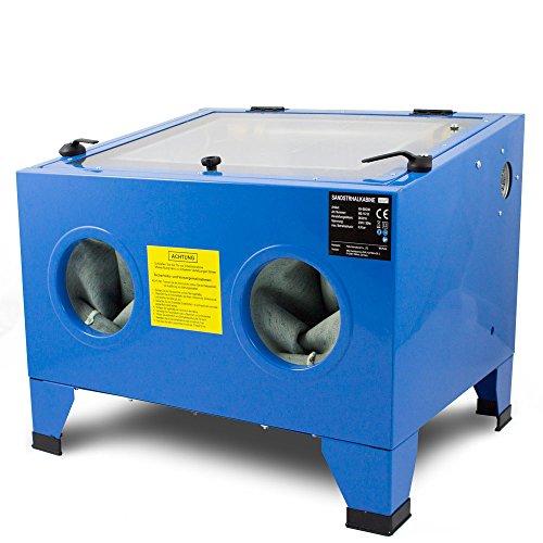 BITUXX® Sandstrahlkabine 90 L Liter Sandstrahlen Industrie Tisch Sandstrahlgerät