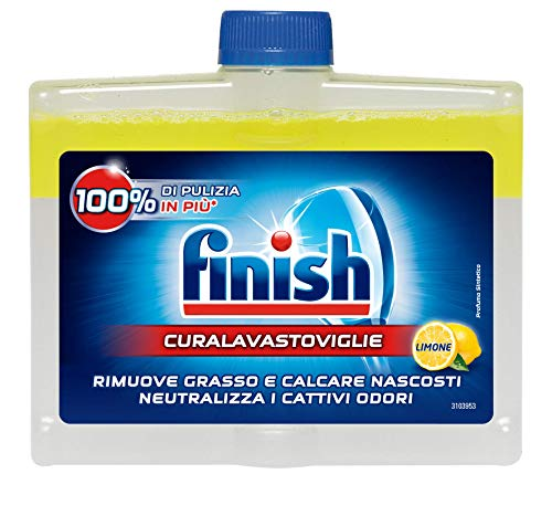 Finish Curalavastoviglie Additivo Lavastoviglie, Limone, 250 ml