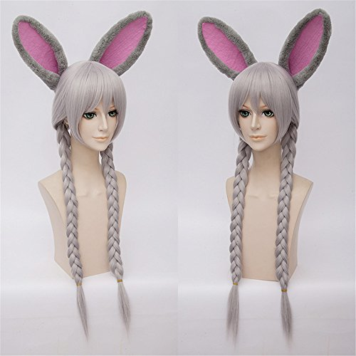 LanTing Cosplay Perücke Zootopia Judy Hopps Silvery Lange Perücke Styled Frauen Cosplay Party Fashion Anime Human Costume Full wigs Synthetic Haar Heat Resistant Fiber