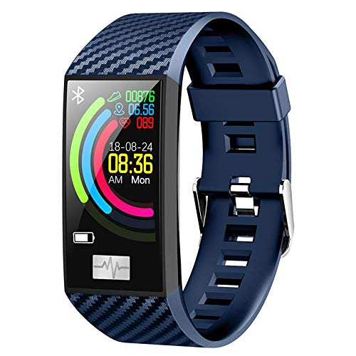 Hokaime Sports Bracelet Color Screen Smart Bracelet Heart Rate Multi-Mode Exercise Bracelet Sport Pedometer Monitor Fitness-Tracker Smart-Wristband, Blue