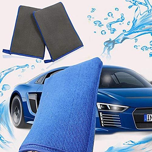 Car Clay Bar 100g Auto detaillierungs Zauber Ton Bar mit Einem Auto Reinigungstuch Autowasch-Lehmhandschuh Oberflächen Handtuchhalter für die Autopflege (Blau)