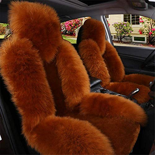 ZHANGYY 1 piece car seat cover, artificial lambskin front seat covers, front single seat cushion, car seat cushion, winter car seat cushion cover.