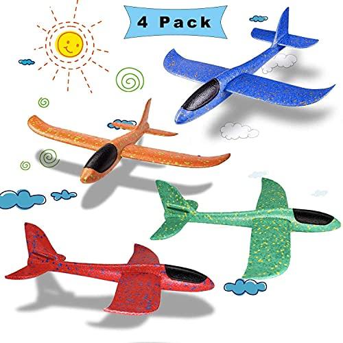 Schaum Flugzeug Spielzeug,Segelflugzeug styropor,wurf Segelflugzeug,Segelflugzeug Modell,manuelles werfen Flugzeug,Flugzeug Outdoor-Sportarten Spielzeug (Farbmischung)