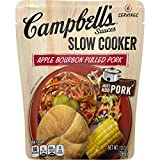 Campbell's Slow Cooker Sauces Apple Bourbon Pulled Pork, 13 oz. Pouch (Pack of 6)