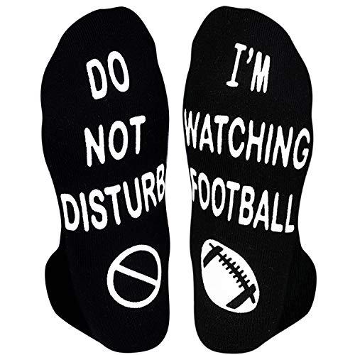 HAPPYPOP Do Not Disturb I'M Watching Football Socks-Novelty Funny Football Dress Socks Gift For...