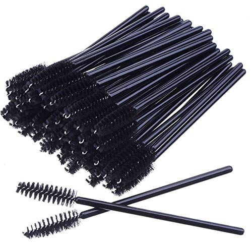 Extension De Cils 200pcs/pack Cils Jetables Brosses Mascara Baguettes Oeil Cils Pinceaux Cosmétiques Maquillage Outils Accessoires sombre