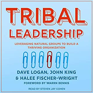 Tribal Leadership     Leveraging Natural Groups to Build a Thriving Organization              Written by:                                                                                                                                 Dave Logan,                                                                                        John King,                                                                                        Halee Fischer-Wright                               Narrated by:                                                                                                                                 Steven Jay Cohen                      Length: 10 hrs and 20 mins     3 ratings     Overall 5.0