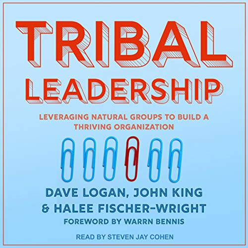 Tribal Leadership     Leveraging Natural Groups to Build a Thriving Organization              By:                                                                                                                                 Dave Logan,                                                                                        John King,                                                                                        Halee Fischer-Wright                               Narrated by:                                                                                                                                 Steven Jay Cohen                      Length: 10 hrs and 20 mins     7 ratings     Overall 3.6