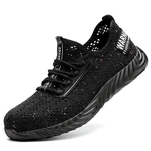 casual shoes Sommer-Arbeitsschuhe, Fliegende gewebte Anti-Milben-Anti-Piercing-Stahlkappen atmungsaktive Sicherheitsschuhe, leichte Outdoor-Sportschuhe für Männer und Frauen