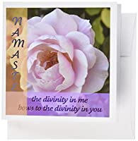 Patricia Sanders花 – Namasteピンクrose- Inspirational photography- Spirituality – グリーティングカード Set of 6 Greeting Cards