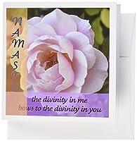 Patricia Sanders花–Namasteピンクrose- Inspirational photography- Spirituality–グリーティングカード Set of 6 Greeting Cards