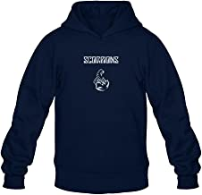 XIULUAN Men's Scorpions Band Logo Hoodied Sweatshirt Long Sleeve