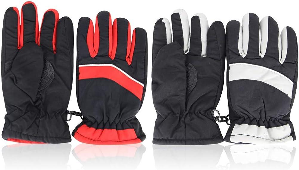 Children Ski Winter Warm Gloves - Outdoor Riding Thickening Kids Gloves Waterproof 2 Pairs